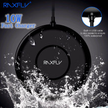 Get more info on the RAXFLY 10W Qi Fast Wireless Charger For iPhone Xs Max IPX5 Waterproof New Technology Charging For iPhone 8 Plus X Xr Xs  Adapter