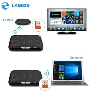 Image 2 - YENI Mini H18 Kablosuz Klavye Ile 2.4G Taşınabilir Klavye Touchpad Fare Windows Android/Google/Akıllı TV linux Windows Mac