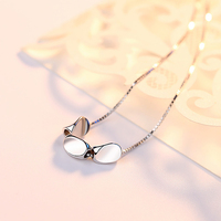 high quality women jewelry 925 Sterling silver girls Necklace Big Bean pendant with chain for women Bride Wedding Party jewelry