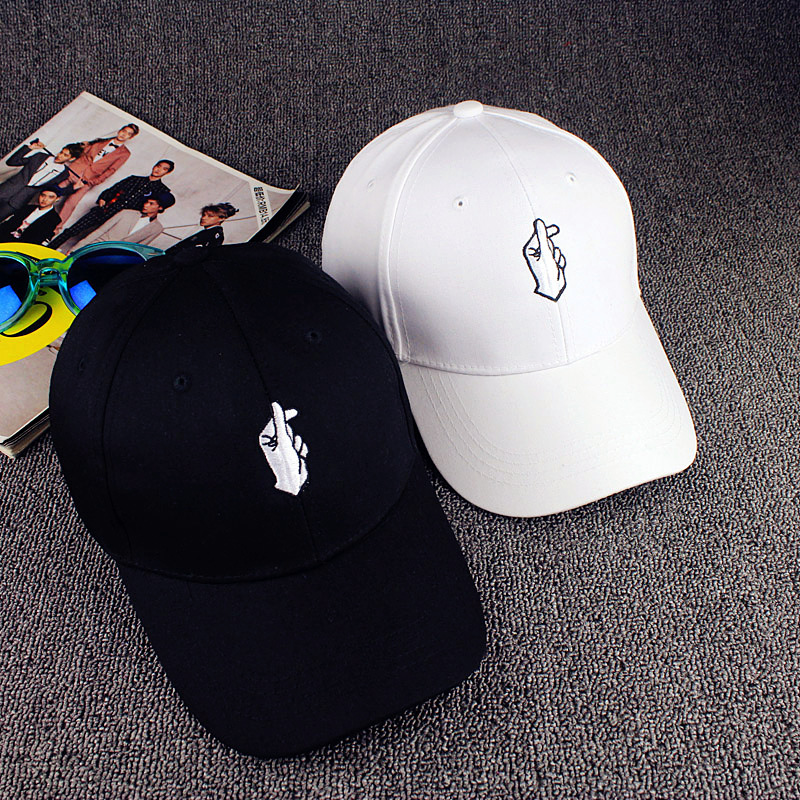 Voron Love Gestures Finger Embroider Golf Baseball Cap Men
