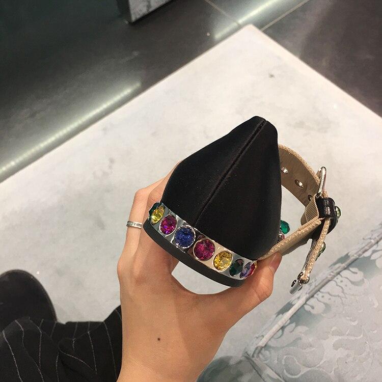 Marée Pic Supérieure Femme Bout Occasionnels Chic 2018 Chaussures Pic Designer Cristal Appartements As Printemps Mujer Été Hot as Confortable Soie Pointu qwRxCxF1a