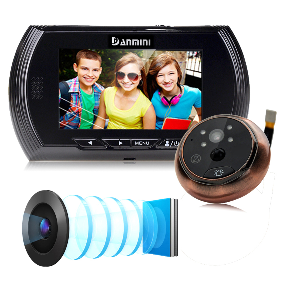 4.3 Inch Motion Detection Door Peephole Camera 140 Degrees Photo Video Peephole Viewer Door Camera Night Vision LCD Screen