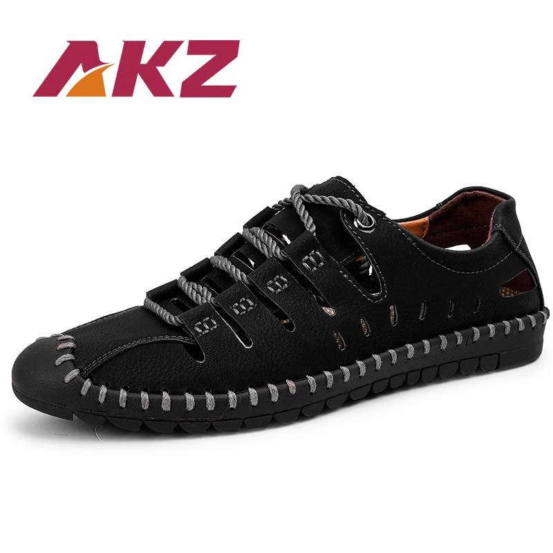 AKZ Vīriešu sandales 2018 Vasaras Pludmales flip flops Mikroviļņu - Vīriešu apavi