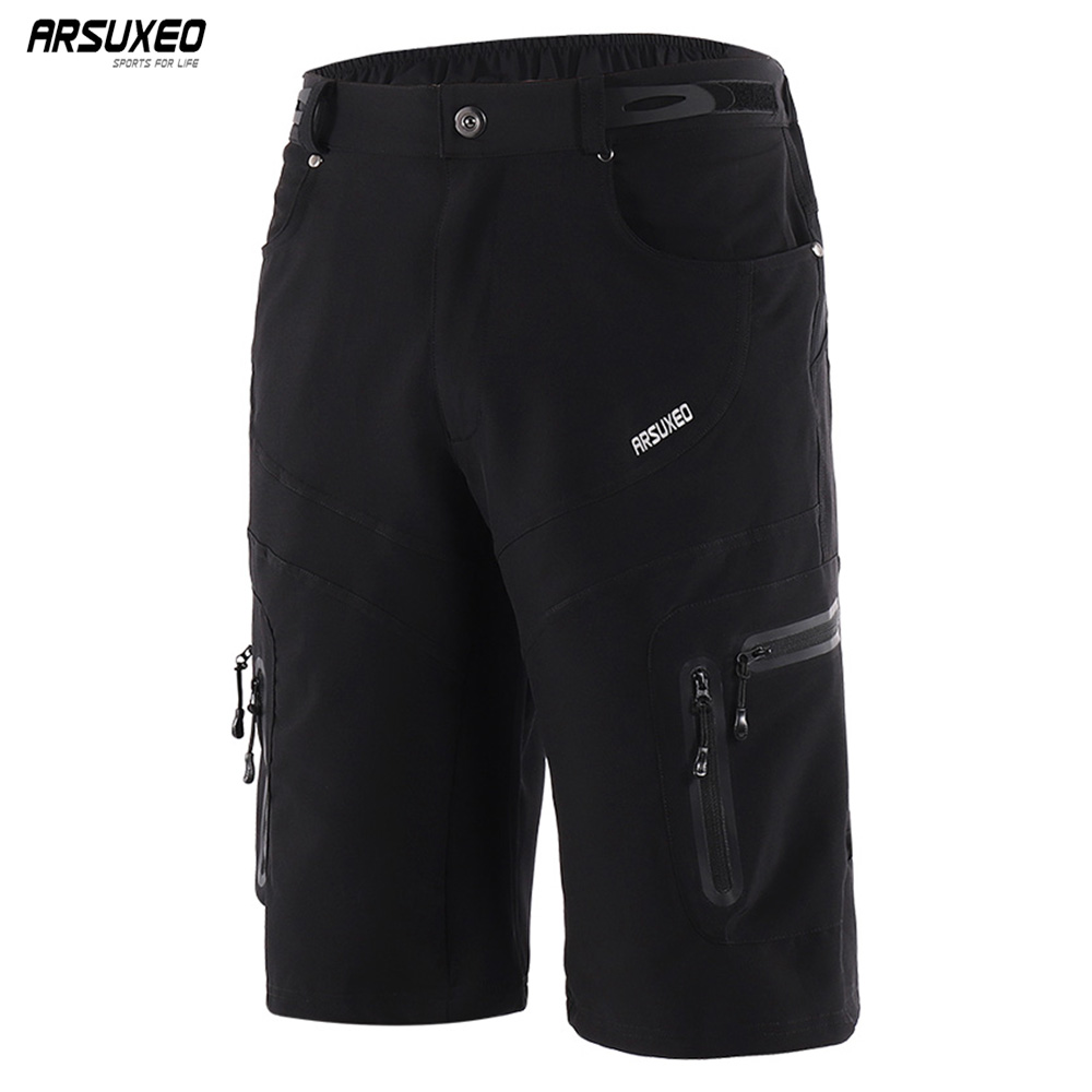 ARSUXEO Men's Outdoor Sports Cycling Shorts Downhill MTB Shorts Mountain Bike Bicycle Shorts Water Resistant Breathable 1806 цена 2017