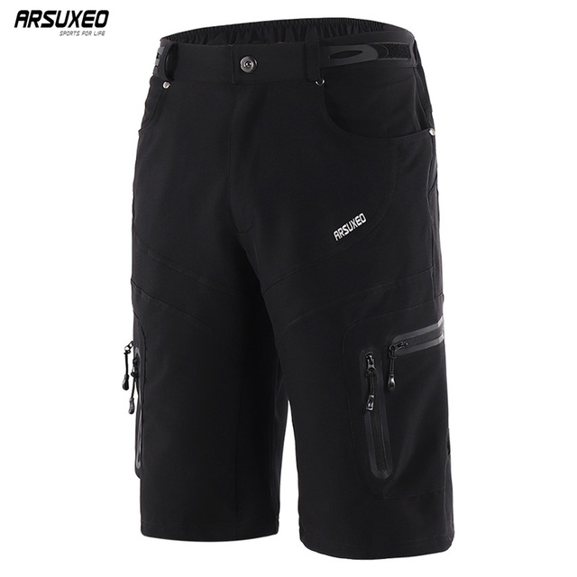 ARSUXEO Men s Outdoor Sports Cycling Shorts Downhill MTB Shorts Mountain  Bike Bicycle Shorts Water Resistant Breathable 1806 f011717eb