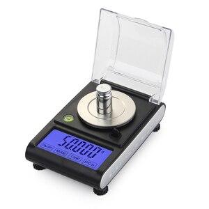 Image 4 - Alta precisão 50g 0.001g equilíbrio de laboratório lcd digital miligrama jóias diamante ouro laboratório escala eletrônico grama contando 0.001