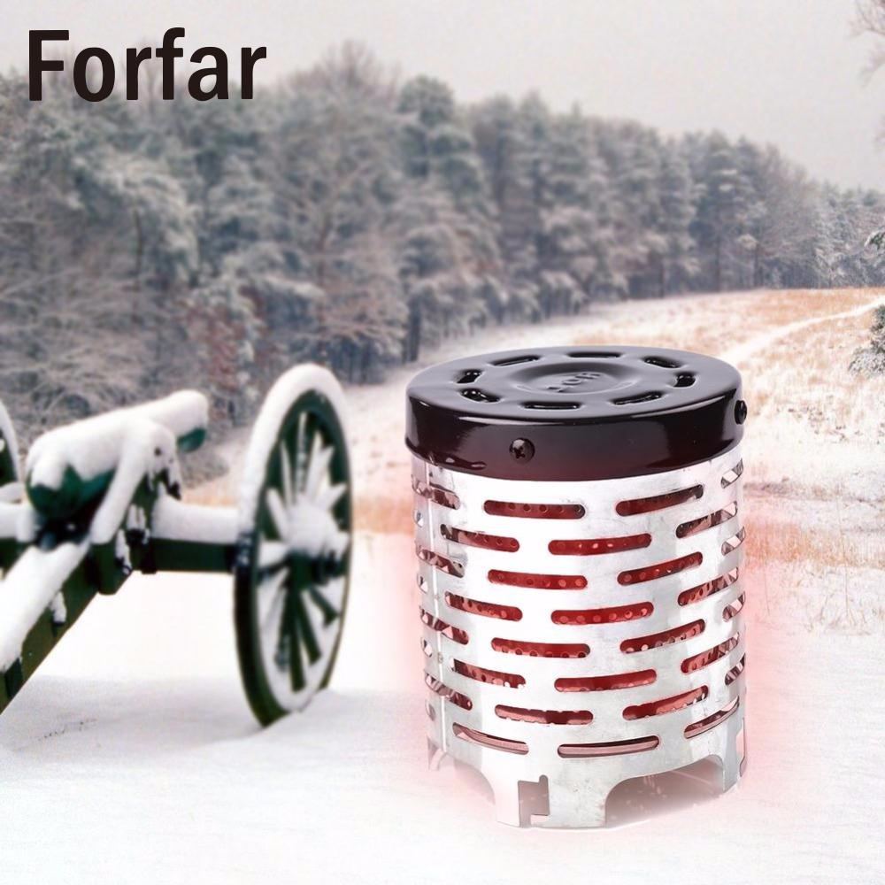 Outdoor Camping Hiking Winter Portable Metal Heater Stainless Steel Warmer Heating Cover Hiking Travel Tool yin qi shi man winter outdoor shoes hiking camping trip high top hiking boots cow leather durable female plush warm outdoor boot