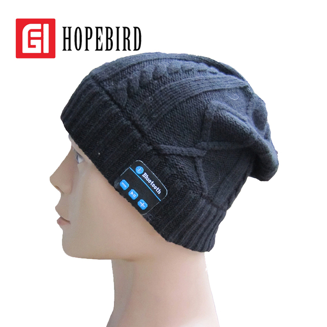 Leisure Sports Telephone Music Cap Autumn Winter Smart Knitted Hat Fashion Bluetooth Wool Caps 2017
