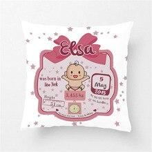 Индивидуальные милые розовые детские Чехлы для девочек, декоративные хлопковые и Полиэстеровые хлопковые чехлы на подушки для сидения