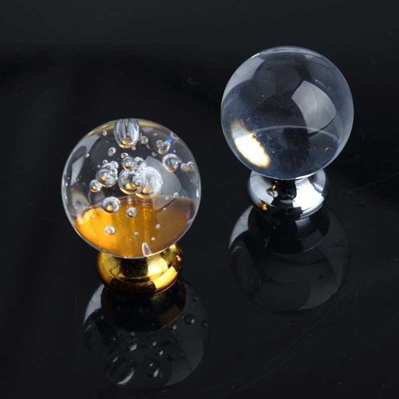 30mm glass ball drawer cabinet knobs pulls clear bubble crystal dresser win cabinet door handles knobs silver gold knobs pulls 33mm glass kitchen cabinet handles clear crystal drawer knobs silver tv table dresser cuoboard furniture door pulls knobs