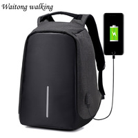 Men Casual Laptop Backpacks Anti Theft USB Charging 16inch Backpack Unisex High Capacity School Bags