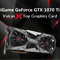 Original Colorful iGame GeForce GTX1070Ti Vulcan X Top Gaming Graphic Card 8G GDDR5 256bit