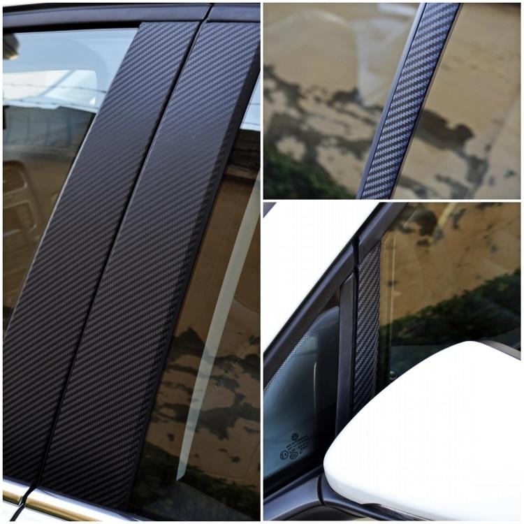 8x Window Pillars Post Middle Sticker Cover PC Case For Honda Vezel HR-V 16-17