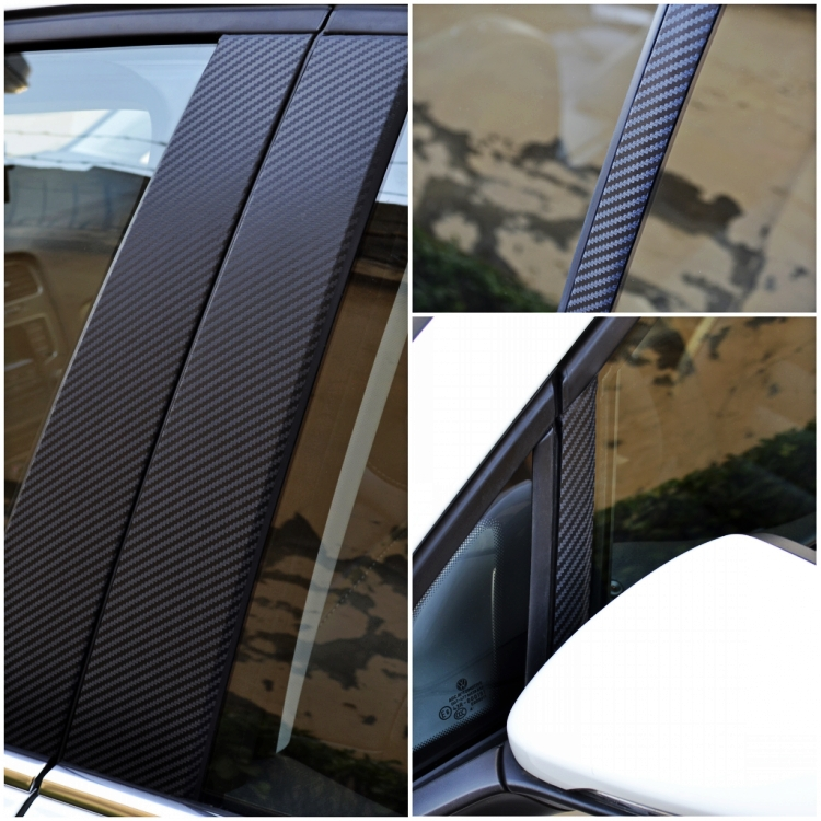 Carbon Fiber A/B/C Pillar Film Sticker Kits For VW MK7 GOLF 7