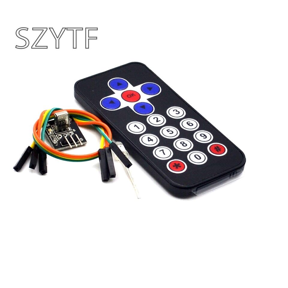 Smart Electronics Hot Sale Black Infrared IR Wireless Remote Control Module Kits for arduino DIY Kit ...