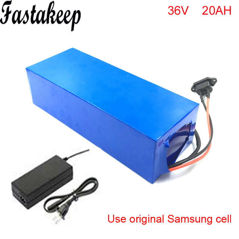 1000W 36V 20AH Electric Bicycle Battery 36V Lithium Battery 36V 20AH E bike battery 30A BMS 2A charger free shipping