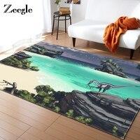 Zeegle Large Carpet Dinosaur Pattern Anti Slip Carpet Door Mat Kids Room Decoration Outdoor Kithchen Living Room Floor Rug