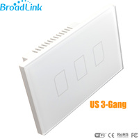 Brand New US Broadlink TC2 3 Gang Mobile Wireless Remote Control Light Switch Smart Home Automation