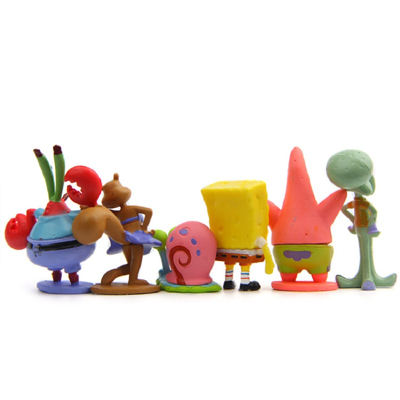 6 teile/los SpongeBob Patrick Star Octopus Modell PVC Action figuren ...