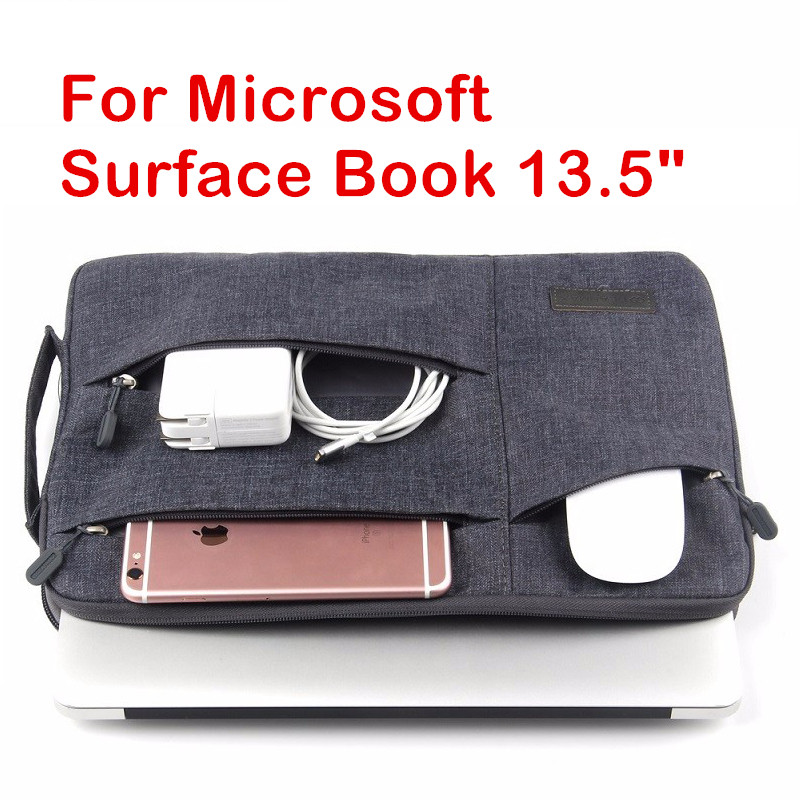 Fashion Sleeve Bag For 2017 Microsoft Surface Book 13.5 Surface Laptop Tablet Laptop Pouch Case Protective Skin Cover Stylus creative design laptop sleeve pouch for samsung galaxy note 10 1 n8000 n8010 n8020 fashion hand holder tablet pc case bag gift