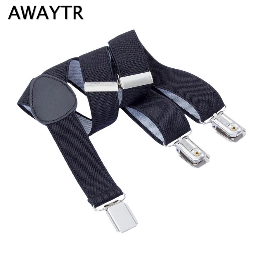 2.5*60cm AWAYTR Fashion Baby Suspenders Solid Color Suspensorio For Kids Black/Navy/Blue Braces Elastic Boys Wedding Straps