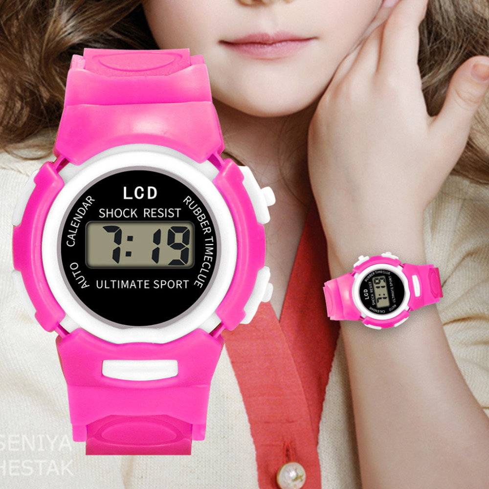 Watches Enthusiastic Kids Led Electronic Sports Watch Fashion Creative Children Girls Analog Digital Waterproof Sport Watch Clock Gift L201913 Highly Polished