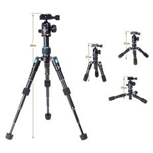 Image 3 - Bexin mini tripé portátil m225s, mini tripé para celular, temporizador ao vivo, câmera para fotografia, slr, tablet, mini bola de cabeça tripé com tripé