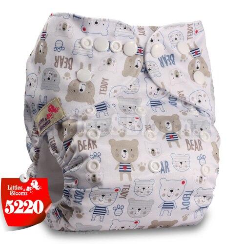 Littles& Bloomz детские моющиеся многоразовые подгузники из настоящей ткани с карманом для подгузников, чехлы для подгузников, костюмы для новорожденных и горшков, один размер, вставки для подгузников - Цвет: 5220