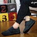 NOVA Moda Primavera Outono Sapatos Masculinos Sapatos de Lazer Slip-on Sapatos Masculinos Homens Sapatos Casuais Confortáveis Respiráveis