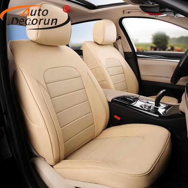 AutoDecorun Car Seat Covers PU Leather For Subaru Outback 2017 Cover Seats Cushion