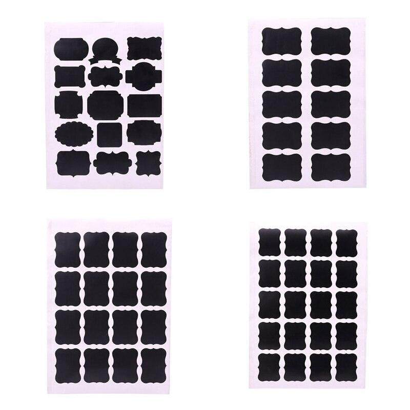 1pcs Blackboard Sticker Black Chalkboard Chalk Labels