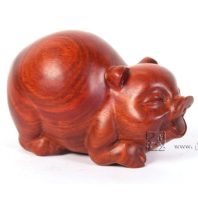 Lucky Pig Carving Crafts Rosewood Home Table Decorations Hotel Solid Wood Garniture Office Desk Ornament Desktop Antique ArticleLucky Pig Carving Crafts Rosewood Home Table Decorations Hotel Solid Wood Garniture Office Desk Ornament Desktop Antique Article