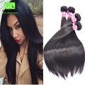 Gaga Queen Hair Products Peruano Virgen Cabello Liso 5 Unids Lote 7A Sin Procesar Armadura Del Pelo Humano Virginal Pervuian Pelo Mocha