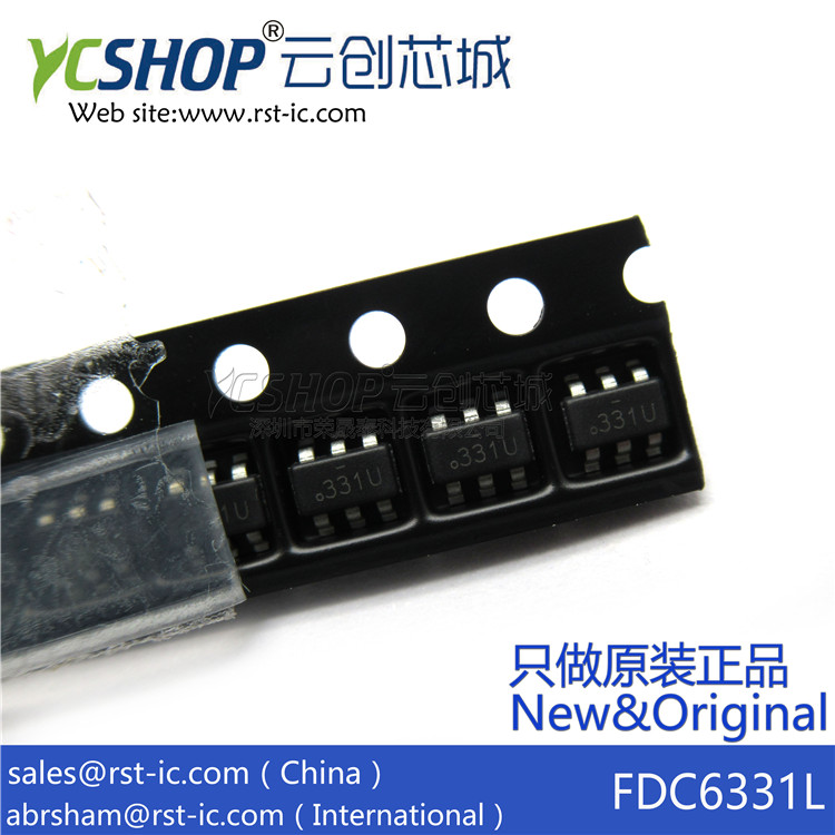Power-Switch FDC6331L 331--Sot23-6 Marking 331U Ics-Power Distribution-Integ.