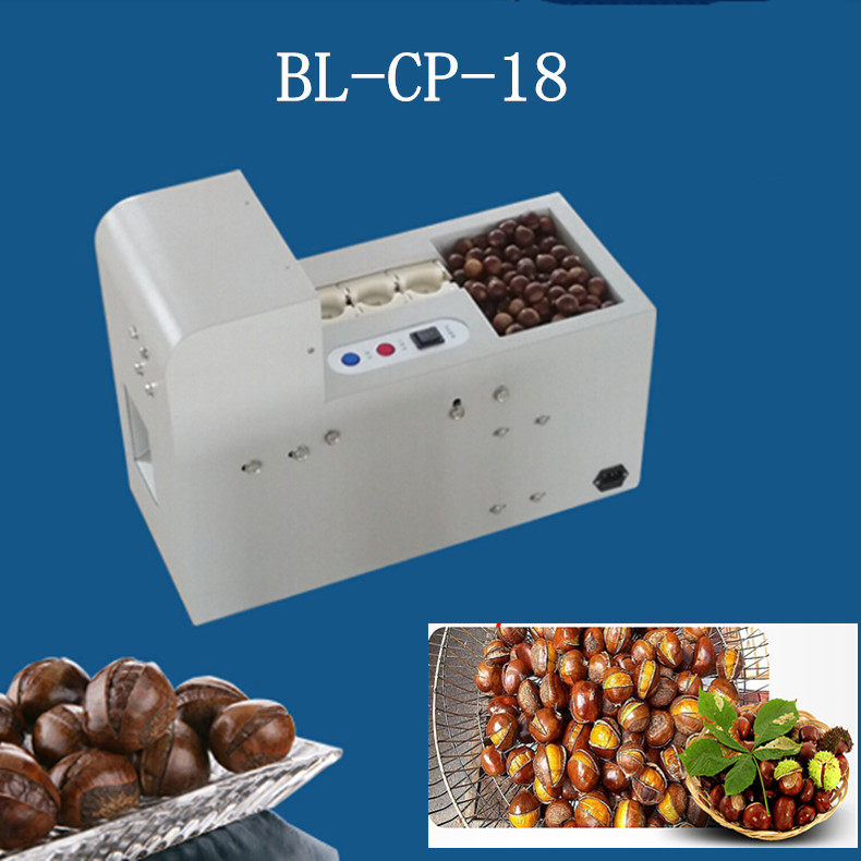 Single chain chestnut cutting machine ,full automatic chestnut mouth opening machine, new generation nuts tapping machine