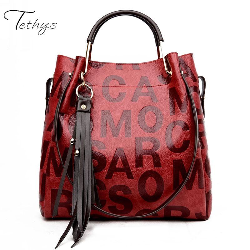 Tethys 2017 fashion split leather Women bag women's handbag Shoulder lady's messenger bag luxury Designer high capacity Sac a ma