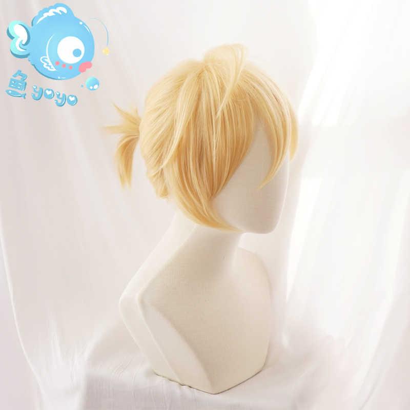 Biamoxer 2017 vocaloide Hatsune Miku Snow Cosplay peluca Kagamine Ren Rin pelo sintético para adultos