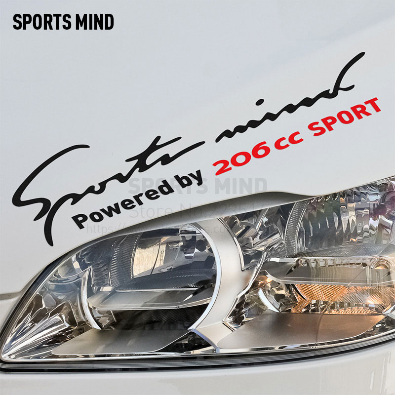 2 Pieces Sports Mind Car Styling On Car Lamp Eyebrow automobiles & motorcycles Car Sticker Decal For Peugeot 206cc accessories