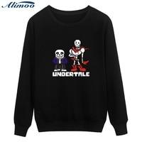 Alimoo Men Sweatshirt Game Undertale Sans Winter Warm Hip Hop Men S Hoodies And Sweatshirts In