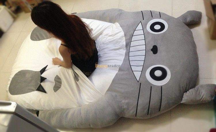 Fancytrader 190cm X 130cm Super Cute Huge Giant Totoro Bed Tatami Carpet Sofa Free Shipping FT90191 (12)