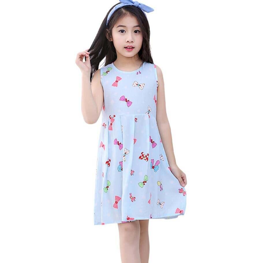 Kids Girls Princess Dresses Long Sleeve Cartoon Parint Party Knee-length Clothes