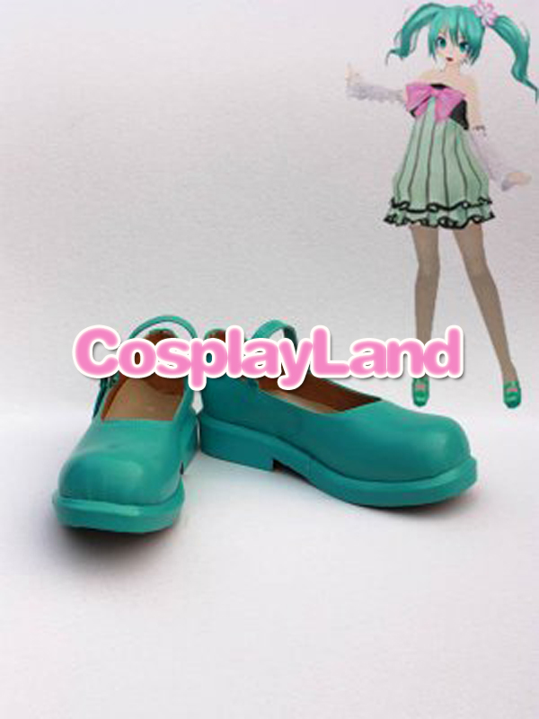 Customize Boots Vocaloid Hatsune Mike Cosplay Shoes Cosplay Costume Halloween Party Cosplay Shoes