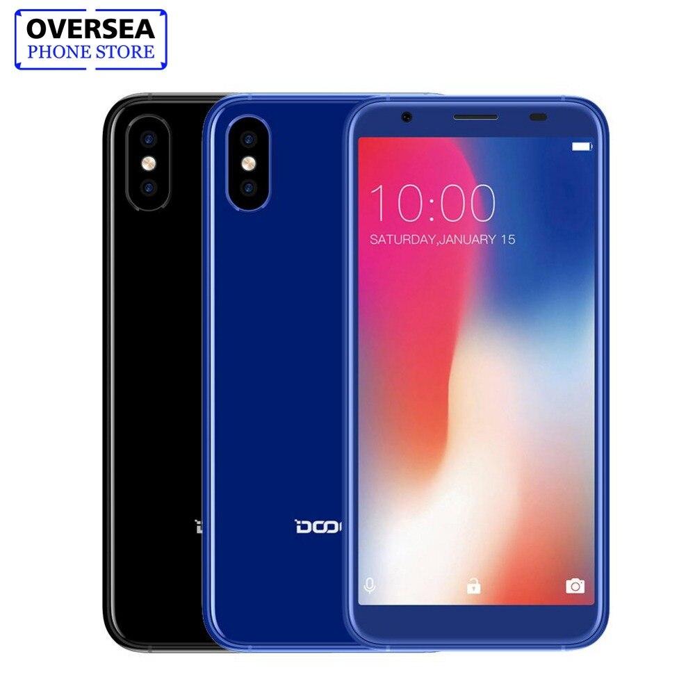 DOOGEE X55 5,5 HD мобильного телефона Android 7,1 1 ГБ Оперативная память 16 ГБ Встроенная память 8MP двойной сзади Камера смартфон с отпечатками пальцев 18...