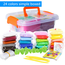 24 Colors Kids Craft Soft Ultra Light Clay font b Plasticine b font Blocks DIY Modeling