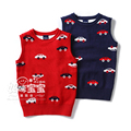 New 2015 spring autumn baby knitted vest children clothing kids sleeveless vest baby boys car KNIT waistcoat pullover sweaters
