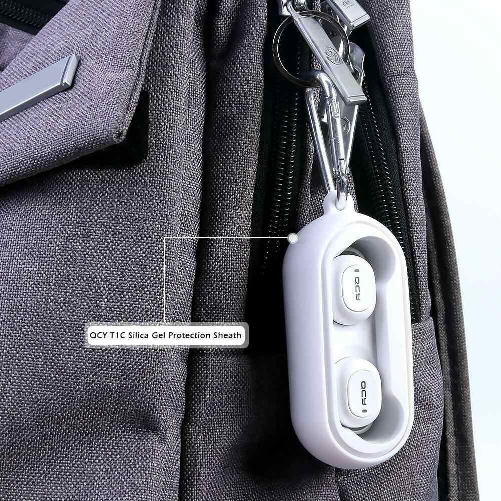 Silikon ochronny zestawy słuchawkowe pokrywa bezprzewodowe słuchawki bluetooth przypadku dla QCY T1C
