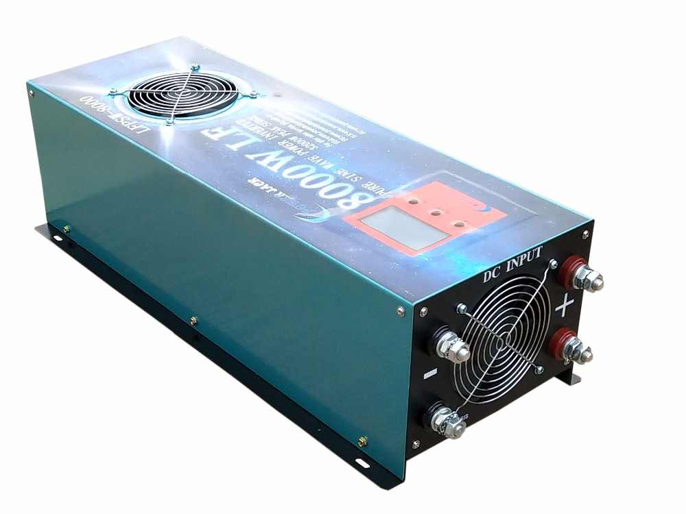 POWERJACK 8000W PURE SINE WAVE POWER INVERTER DC 24V TO AC 220V 230V 50Hz  ATS/120A BATTERY CHARGER/ LCD METER/ UPS/ Converter