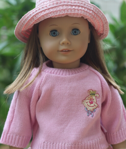 Doll accessories ,1pcs Pink Autumn outfit for  American girl doll clothes for children best gift(only sell sweater)