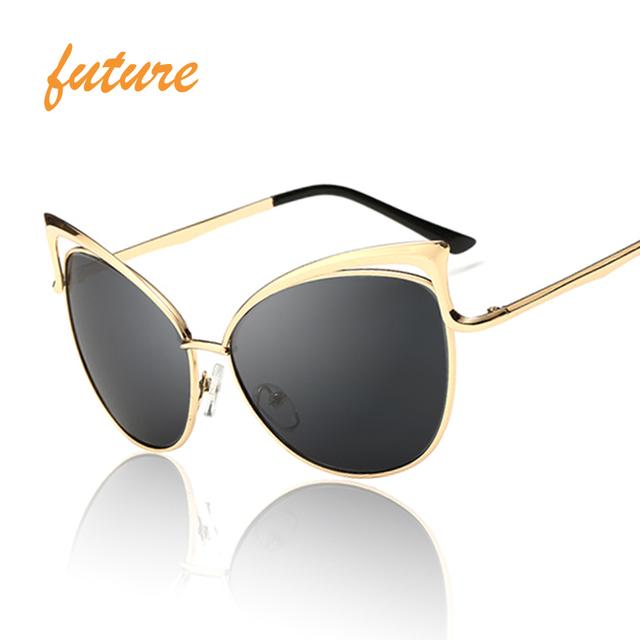 New Fashion Cat Eye luxury Sunglasses 2017 Women Brand Designer Twin-Beam Mirror Men Sun Glasses Vintage Female oculos de sol