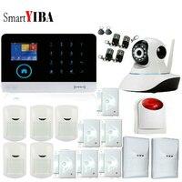 SmartYIBA Wifi GSM Home Alarm APP ISO 433MHz TFT Golor Screen RFID Disarm Arm Security Kit